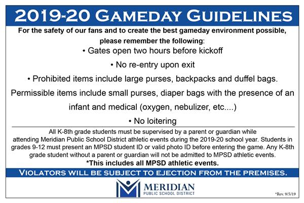 MPSD Athletic Event Guidelines