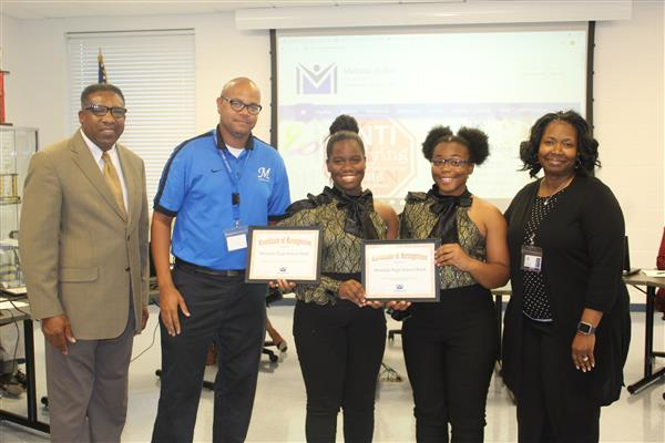 The Meridian High School Band was honored at the October meeting of the MPSD School Board on Monday,