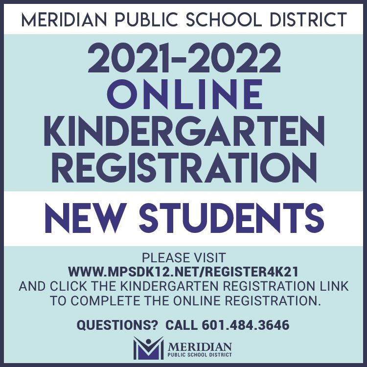 2021-2022 Online Kindergarten Registration for new students