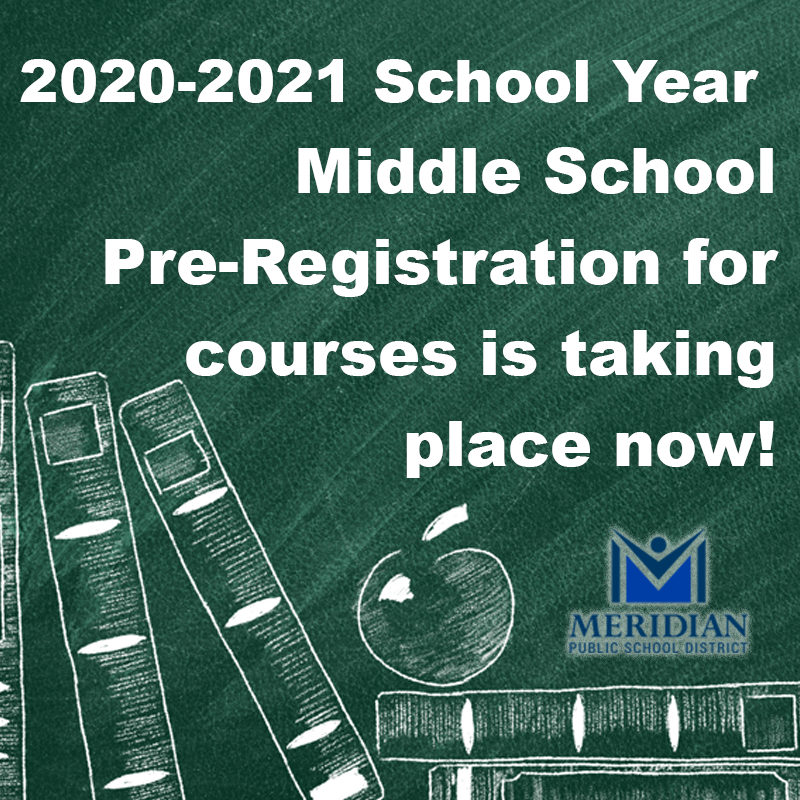 2020-2021 MPSD Middle School Pre-Registration for courses
