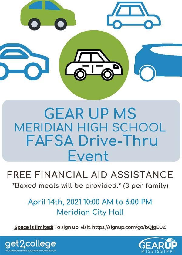 Flyer for MHS FAFSA Event on April 14, 2021