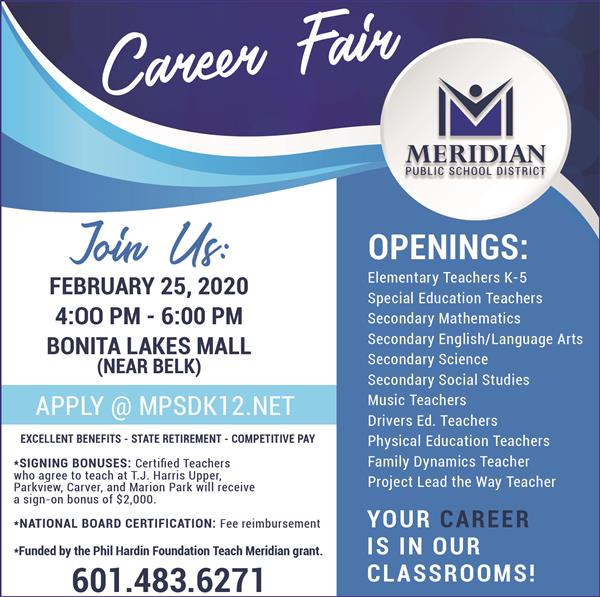 Photo of MPSD Career Fair flyer.