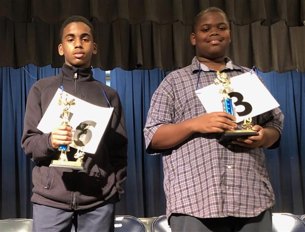 MPSD Middle School Spelling Bee Winers