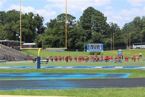 DCI practices at Ray Stadium