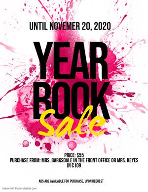 MHS Yearbooks On Sale Now!