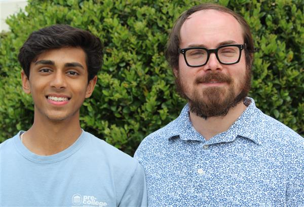 Photo MHS Star Student Bijen Patel and Star Teacher Matthew Evans.