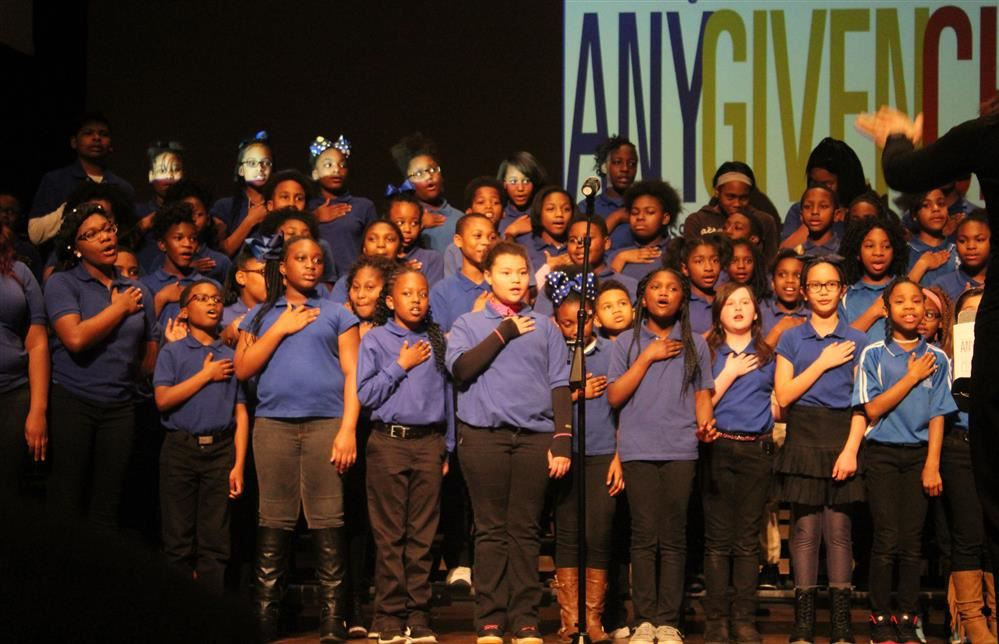 MPSD Choir performs at Any Given Child Launch